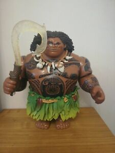 Disney Store Maui Action Doll Talking Singing Light Up 31cm Large Figure Moana