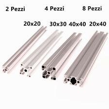 2/4/8x Profilati in alluminio 20x20 30x30 40x40 20x40 Serie 6 8 Slot CNC profili