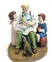 "Norman Rockwell Figurine ""The Toy Maker"" Limited Edition Americana Vintage"
