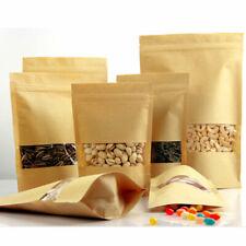 10Pcs Kraft Paper Food Bag Heat Seal Zip Lock Pouches Tea Storage Packaging