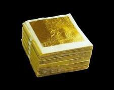 "24K PURE EDIBLE GOLD REAL GENUINE LEAF LEAVES SHEET GILDING 1.7"" CRAFT MASK SPA"