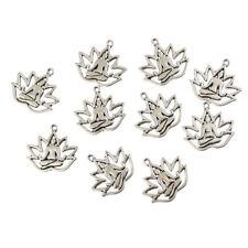 10PC Lotus$Buddha Charm Pendant Tibetan Silver Beads Fit DIY Jewelry Findings
