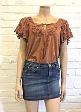 Space Style Concept Beautiful Embroidered Peasant Top Uk 10