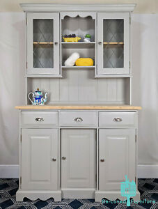 Shabby Chic Solid Pine Welsh Dresser Kitchen Sideboard - Painted -Hardwick White
