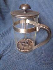 cafetiere a piston vintage en plastic noir