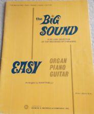 Big Sound Top Recorded Hit Songs Voice EZ Piano Organ Guitar Unmarked 1967