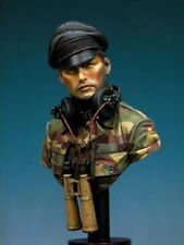 1/10 BUST Resin Figure Model Kit German Soldier Tank Commander WWII Unpainted
