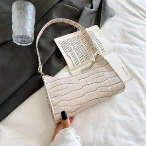Retro Alligator Skin Pattern Female Small Handbags Short Strap Shoulder Bag
