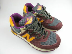 Women's NEW BALANCE '574' Sz 8 US Shoes Maroon Orange VGCon | 3+ Extra 10% Off