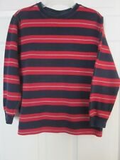 -Gap Kids Boys 100% Cotton Striped Sweatshirt Blue/red  Size M (8)