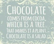 Sixtrees Chocolate Comes from Cocoa, Which is A Tree. That Makes It A Plant. Cho