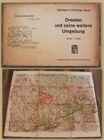 Dresden und seine weitere Umgebung um 1940 Sachsen Geografie Karte Ortskunde sf