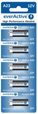 5 Stück A23 12V everActive Alkaline Batterien MN21-V23GA-23A 12 Volt 55 mAh