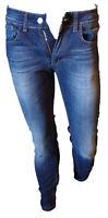 Jeans Pantalone Uomo Vissuto Sbiadito Casual Gamba Dritta Strech Denim P.H Tg 45