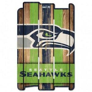 """Seattle Seahawks Wood Fence Sign 11""""x17"""" [NEW] NFL Wall Man Cave Fan Wall"""