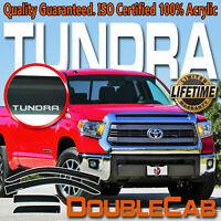 Fits 07-20 Tundra Double Cab Extended Window Rain Deflector Sun Visor Vent Guard