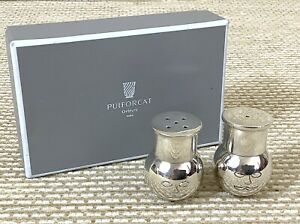 Puiforcat Cuistot Salz & Pfeffer Kleiner Krug Töpfe Streuer Silver Plated $395