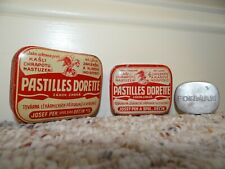 Antique Medical Tins 1930's Set of Two Pastilles Dorette Czech plus bonus Forman