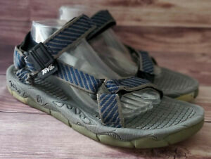 Teva Mens Sandals Size 11 Blue Gray