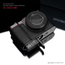 GARIZ Leather Half Case Panasonic Lumix TZ100 ZS110 TX1 XS-CHZS110BK Black