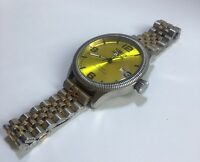 Invicta Men's (model 1462) Vintage Collection Yellow Dial Watch with metal strap