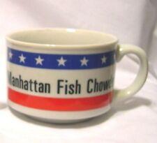 Manhattan Fish Chowder Soup MUG cup Recipe red white blue stars stripes