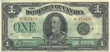 Dominion Of Canada $1 1923 Black Seal Group 2 King George V ~Nice Extremely Fine