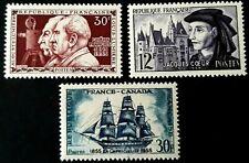 (1955)LOT DE 3 TIMBRES FRANCAIS -N°1033 A 1035 NEUFS AVEC CHARNIERES *