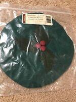 Longaberger CAROLING BASKET Lid Cover IVY New