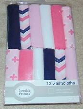 ~12 NEW Girls LUVABLE FRIENDS Washcloths! Cute FS:)~