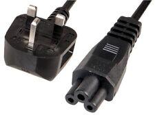 2 M C5 Hoja De Trébol para Reino Unido Enchufe Cable de alimentación de 2.5 A 2 m portátil Cable cargador