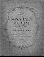 Hermann Kipper : SONATINEN ALBUM für Klavier - Band 2 - alt, übergroße Noten