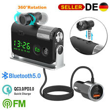 Bluetooth 5.0 FM Transmitter Auto MP3 Player KFZ AUX Freisprechanlage mit 2 USB