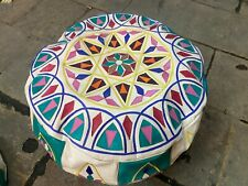 Moroccan Handmade Pouf Ottoman Footstool Poof Pouffe Pooff Natural Leather