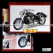 #074.06 Fiche Moto HONDA VTX 1800 Modèle 2001 Custom Motorcycle Card