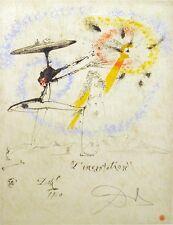 "Salvador Dali ""L'Incantation"" Original Etching, Hand Signed by Dali, 1960, OBO!"