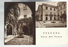 PESCARA CASA DEL POETA VECCHIA CARTOLINA 1948
