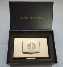 RALPH LAUREN BECKBURY STACKED SILVER PLATED BRASS BOX WITH CEDAR WOOD INTERIOR