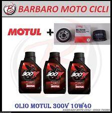 3 LITRI OLIO MOTUL 300V 10W40 + FILTRO OLIO ORIGINALE TMAX 530 DAL 2012 AL 2016
