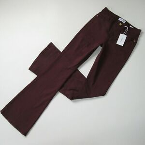 NWT Frame Le High Flare in Bordeaux High Rise Stretch Jeans 26 x 35 $225