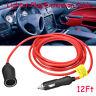 3.6M 12/24V Car Cigarette Lighter Socket Power Charger Plug Extension Cable Lead