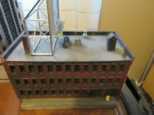 HO Scale Building Built up & Weathered Warehouse building
