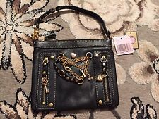 NWT JUICY COUTURE LEATHER WRISLET DOUBLE ZIP STRAWBERRY CHERRY SCOTTIE DOG CHARM