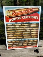 Remington Cartridges Vintage Metal Tin Sign Wall Decor Garage Man Cave Shop USA