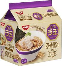 Nissin Raoh Tonkotsu Soy Sauce Ramen Premium Japanese Instant Noodles 5 Servings