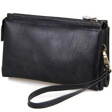 Fashion Men's Genuine Leather Wallet Handbag ID Card Key Case Purse Clutch Bag