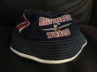 Walt Disney World bucket hat Mickey Mouse blue red cap h48