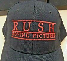 Rush: Moving Pictures baseball cap hat, black, adult unisex Rush band logo