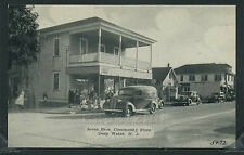 NJ Deep Water LITHO c.1940 SEVEN BROTHERS COMMUNITY STORE & Panel Delivery Truck