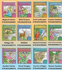 DOODLE DESIGN COLOURING BOOKS- 12 BOOK SET - ART THERAPY - New